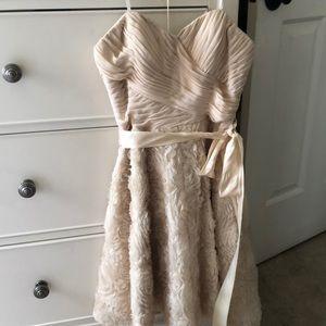 aidan mattox strapless dress